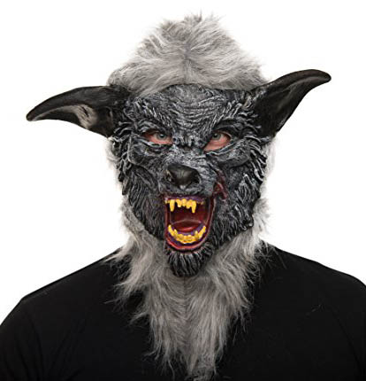 Horro und Halloween Maske aus Latex Werwolf