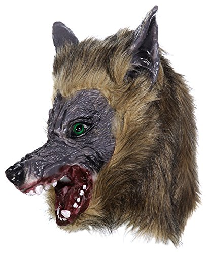 Horror Maske aus Latex Werwolf