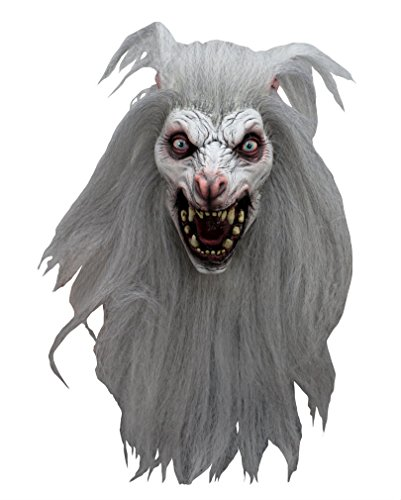 Horror Maske aus Latex Werwolf White Moon