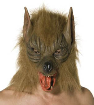 Halloween Maske Werwolf aus Latex
