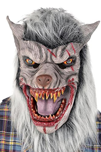 Halloween und Horror Maske Werwolf aus Latex